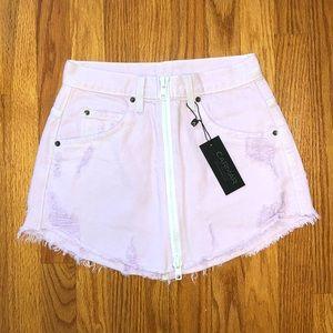 LF carmar denim Beatrice zipper skirt lavender 26